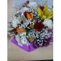 Centro de flores alegres